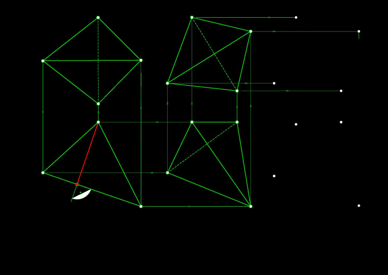 Как сделать треугольную скобку