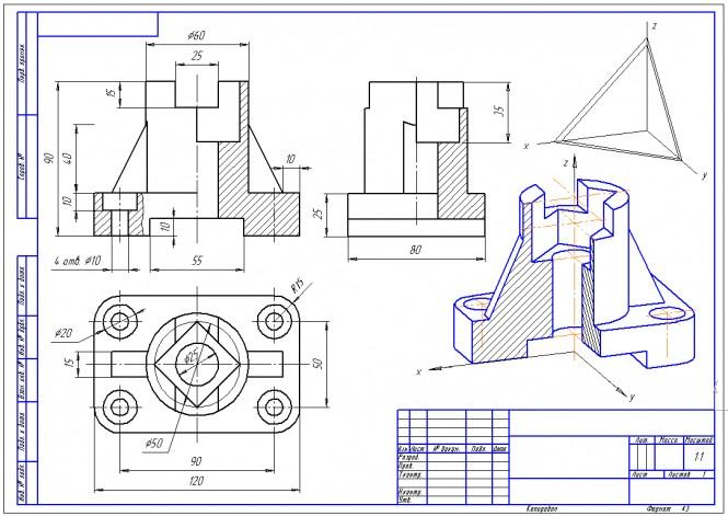 чертежи инженерной готовые графике